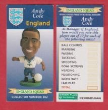 England Andy Cole Manchester United E02